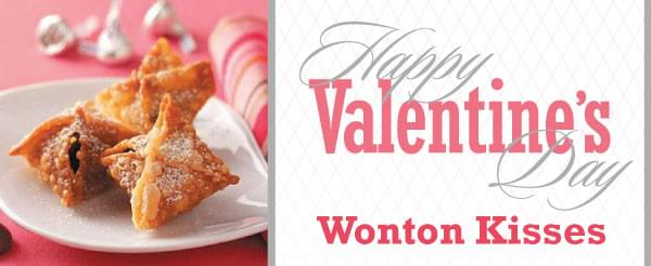 Valentine's Day Wonton Kisses Recipe From De Young!