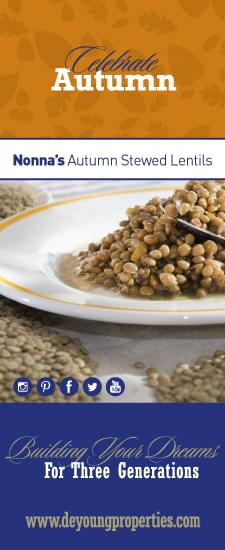 Celebrate Autumn with Nonna's Stewed Lentils