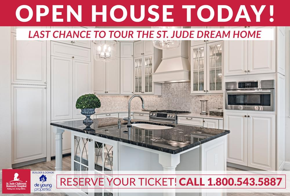 Last Chance To Tour The 2018 St. Jude Dream Home! Call (800) 543-5887 Today And Reserve Your Ticket!