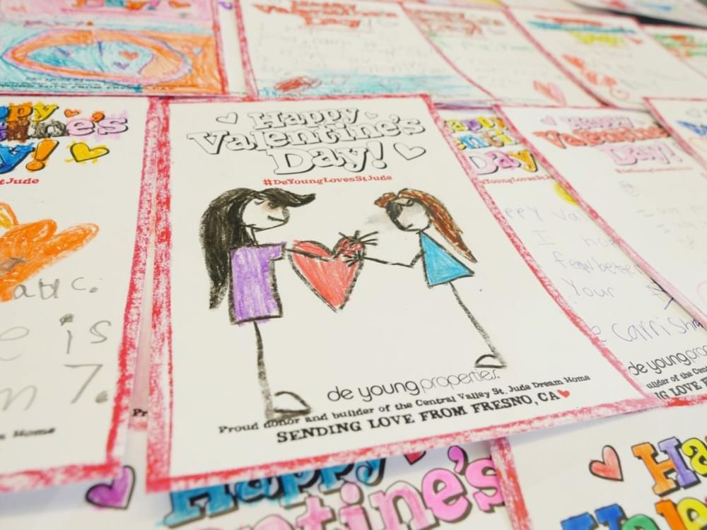 DeYoung Properties Sent Over 350 Valentines to the Inspiring Patients of St. Jude!
